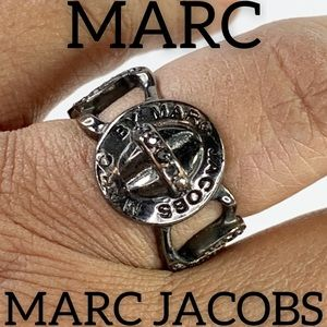 Marc by Marc Jacobs Chainlink Rhinestone Ring